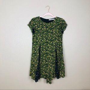 Zara mini dress floral print
